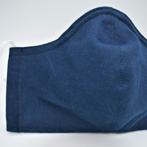 dark blue cotton face mask