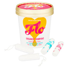 Load image into Gallery viewer, FLO Organic Non-Applicator Tampons, Regular/Super Combo Pack