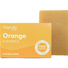Load image into Gallery viewer, orange and grapefruit friendly soap bar