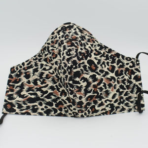 animal print cotton face mask