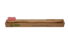 Load image into Gallery viewer, pink bamboo toothbrush
