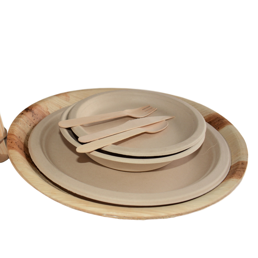 barbecue set, plastic free, biodegradable