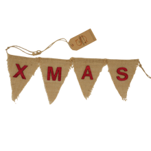Load image into Gallery viewer, christmas bunting plastic free