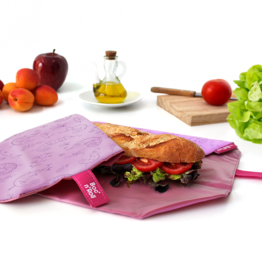 Boc'n'Roll Kids Paint Re-Usable Sandwich Wrap / Table Mat - Chameleon - Green Alternatives