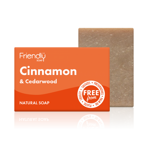 friendly soap cinnamon and cedarwood bar