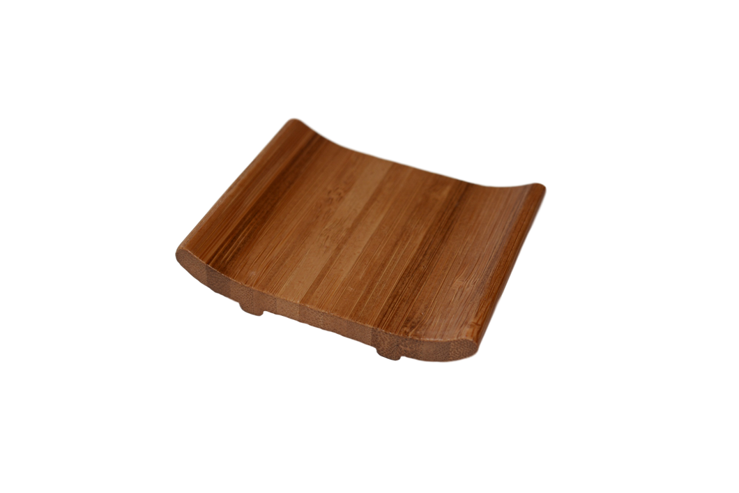 bamboo curved soap dish
