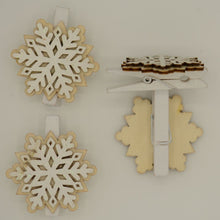 Load image into Gallery viewer, snowflake christmas pegs