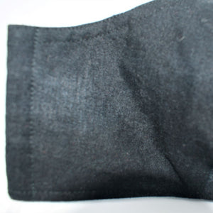 dark grey cotton face mask