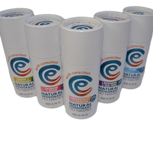 selection of earth conscious deodorants