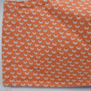 cotton washable face mask orange design