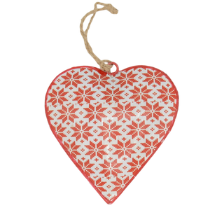 nordic metal hanging christmas decoration heart