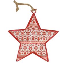 Load image into Gallery viewer, nordic metal hanging christmas decoration star