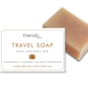 Lemongrass, Lavender, Tea Tree & Peppermint Travel Soap