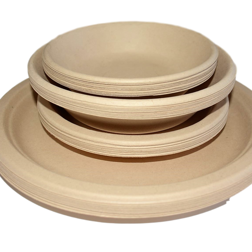 Plates & Bowls Wheat Fibre Set - 40 pack