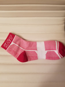 KAPPA RED AND WHITE WAFFLE SOCK