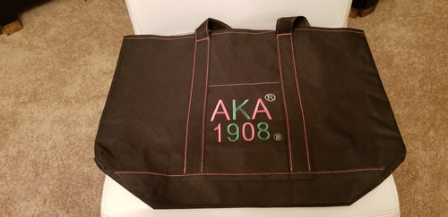AKA BLACK CANVAS BAG - CLEARANCE !!!