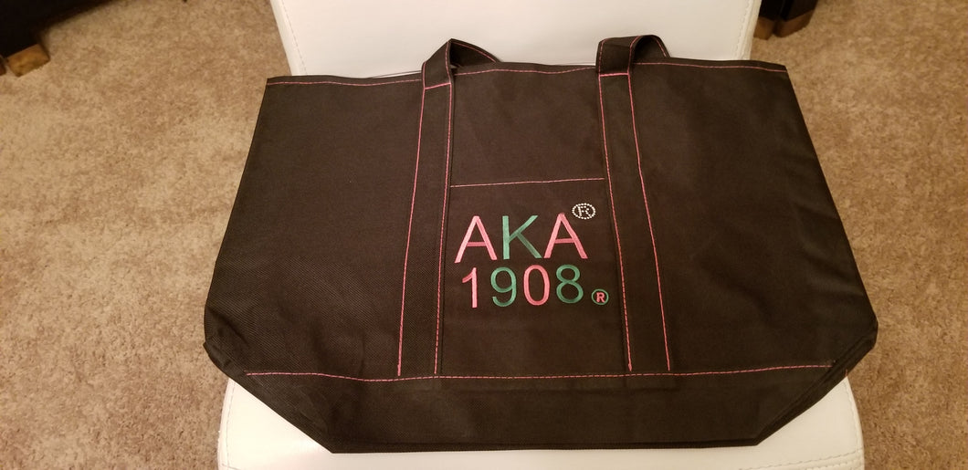 AKA BLACK CANVAS BAG/ SPECIAL DISCOUNT PRICE !!  50%