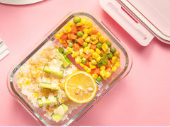 Heat resistant microwave glass lunch box