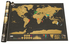 Customised Black & Gold Creative Travel Map ,  corporate gifts