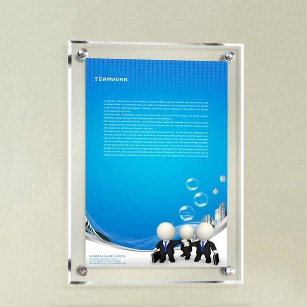 Customised Acrylic Exhibition Board Plexl Glass Wall Poster ,  corporate gifts