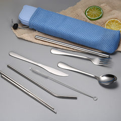 Customised Stainless Steel Travel Portable Tableware, Knives, Forks, Spoons, Pipets ,  corporate gifts
