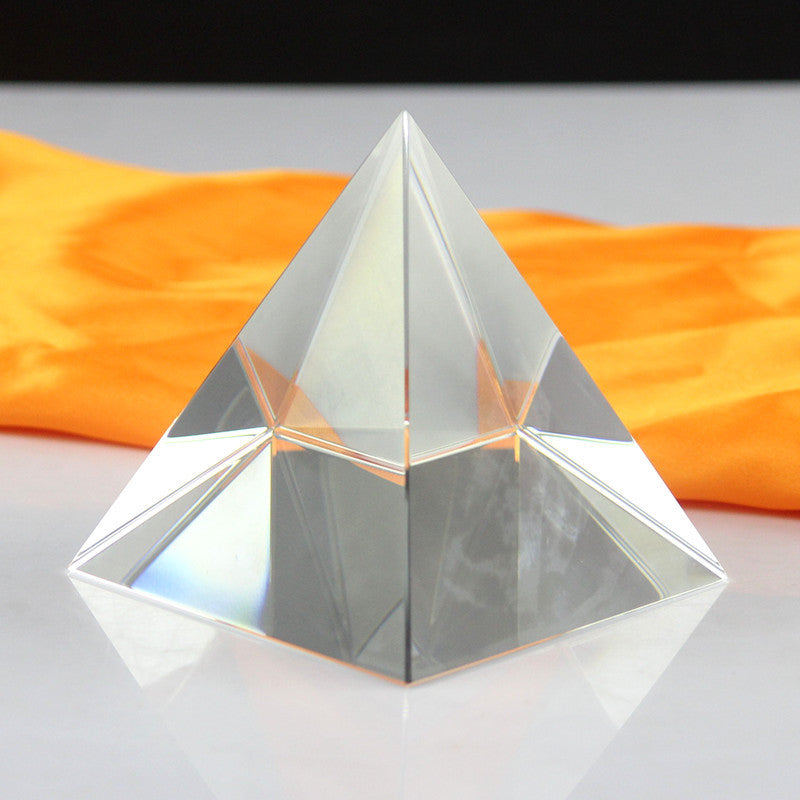 Pure crystal pyramid Paperweight