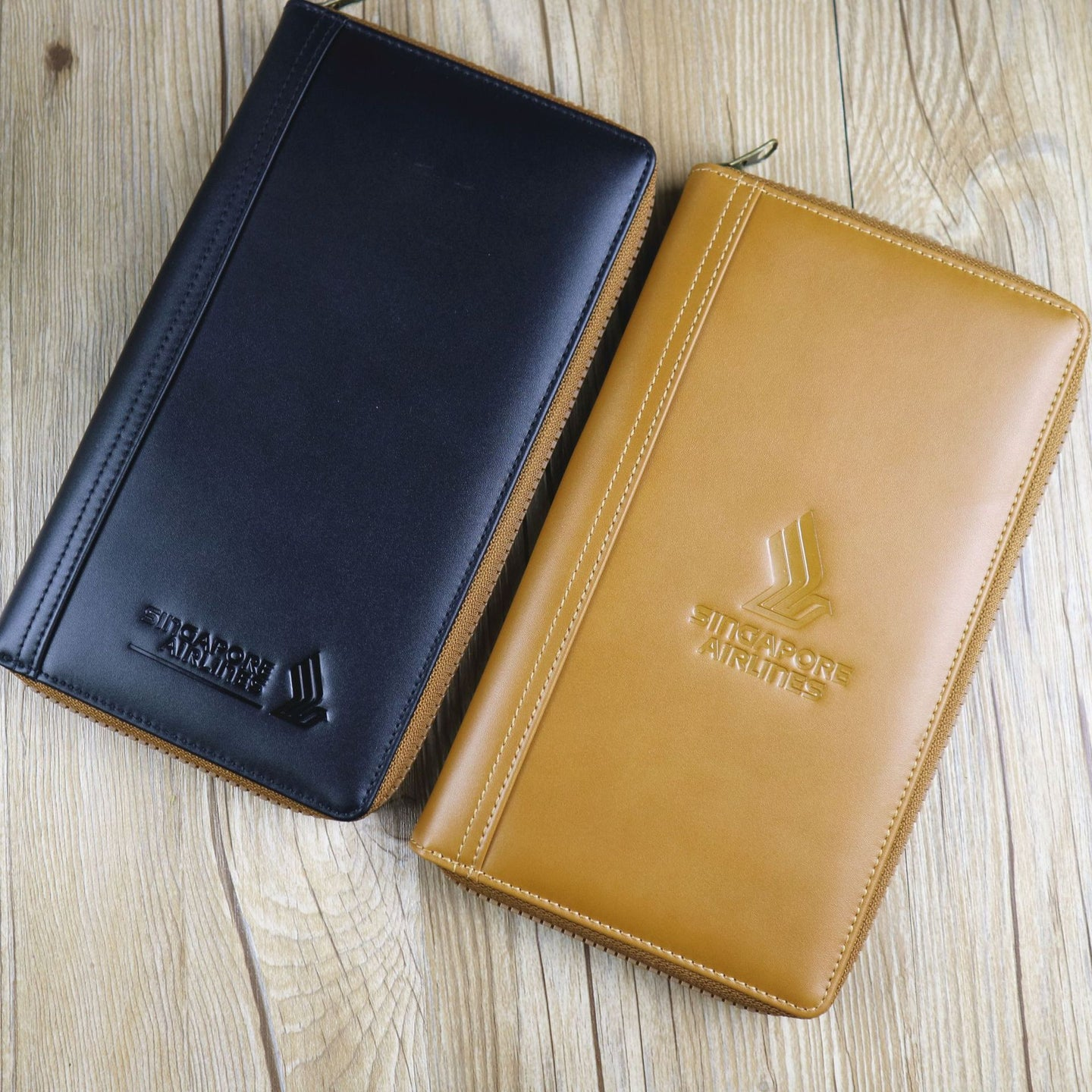Customised Leather Resin Zip Passport Bag ,  corporate gifts