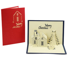Customised Christmas Castle Cartoon Workers Birthday Cards ,  corporate gifts