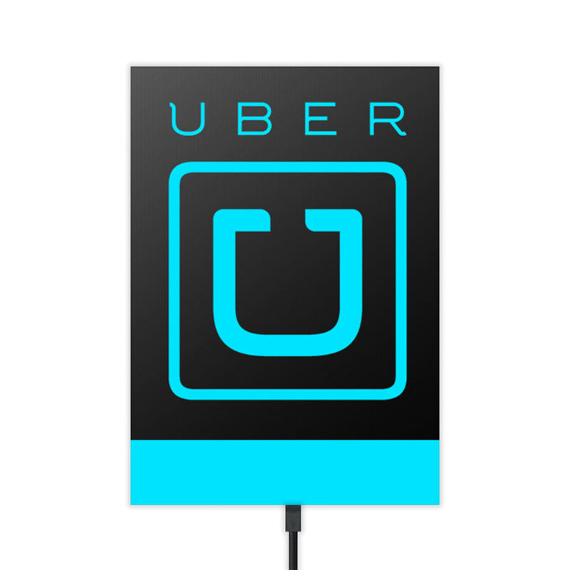 Customised Luminous Cold Bright Light Film Uber Stickers ,  corporate gifts