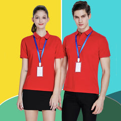 Customised Printed Logo Short-Sleeved Polo T-Shirt ,  corporate gifts