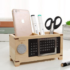 Customised Solid Wood Calendar Multifunctional Penholder ,  corporate gifts