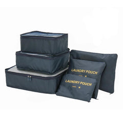 Customised Travel Storage Six-Piece Luggage Clothing Waterproof Finishing Bag ,  corporate gifts