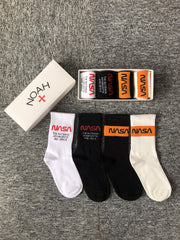 Customised NASA Astronaut Logo Sports Long Socks ,  corporate gifts