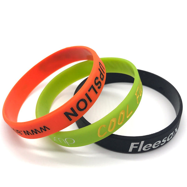 Customised Silicone Printing Night Glow Bracelet ,  corporate gifts