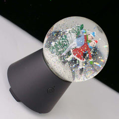 Customised Christmas kids crystal ball Bluetooth audio rotary music box ,  corporate gifts