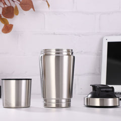 Stainless steel shake cup