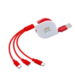 Customised Three in One USB Charging Cable ,  corporate gifts