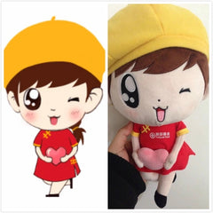 Customised Mascots Shaped Doll Stars ,  corporate gifts
