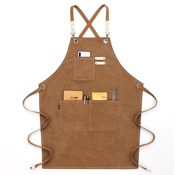 Customised Coffee Shop Restaurant Canvas Apron ,  corporate gifts