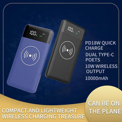 Customised PD18 Wireless Fast Charging Mobile Power Bank ,  corporate gifts