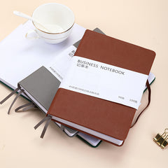A5 leather tight belt notepad customized