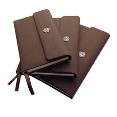triple fold cloth notebook customized