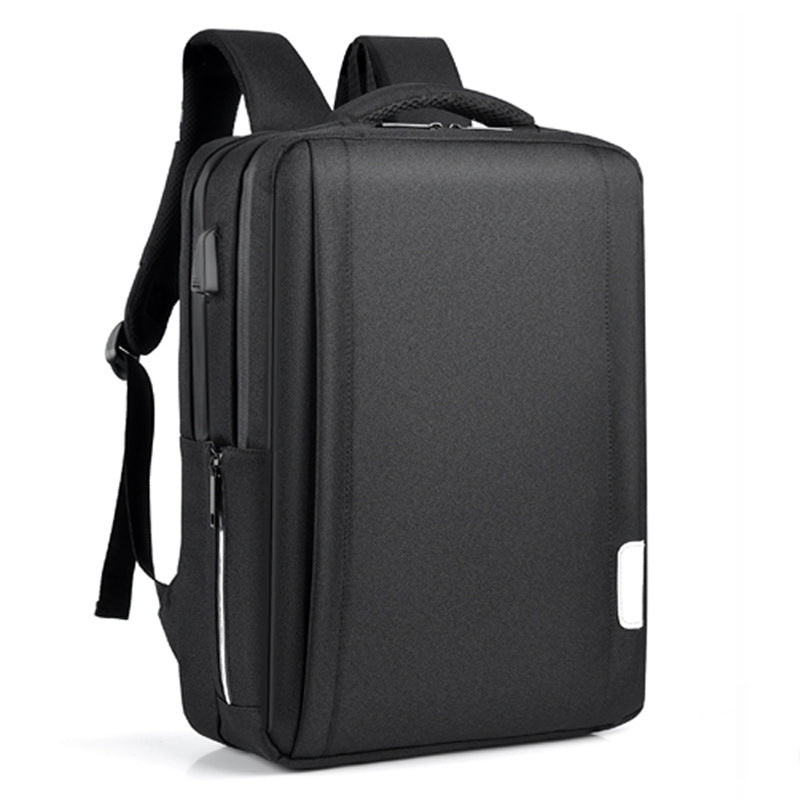 Double shoulder computer bag for men and women anti theft USB charging