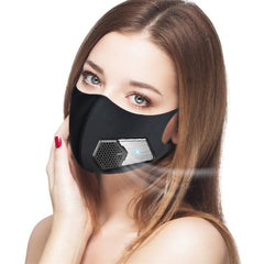 Electric mask with breathing valve to prevent dust and fresh air