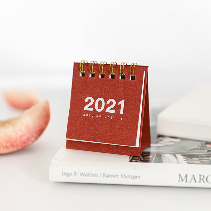 Simple mini desk calendar 2021