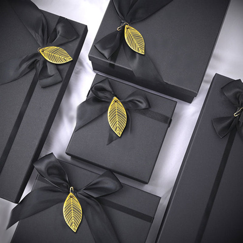 Black bow heaven and earth gift customized box