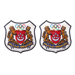 Olympic rings embroidery badge customized