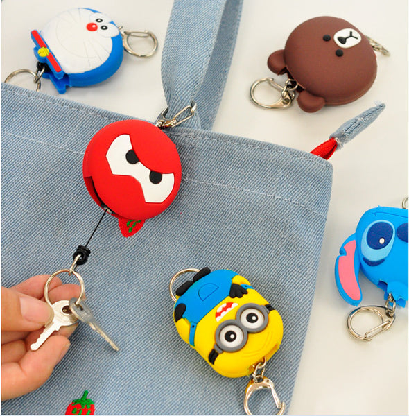 Pull button key chain customized