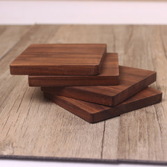 Wood cup mat customized