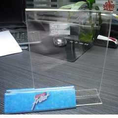 Transparent table display stand customized